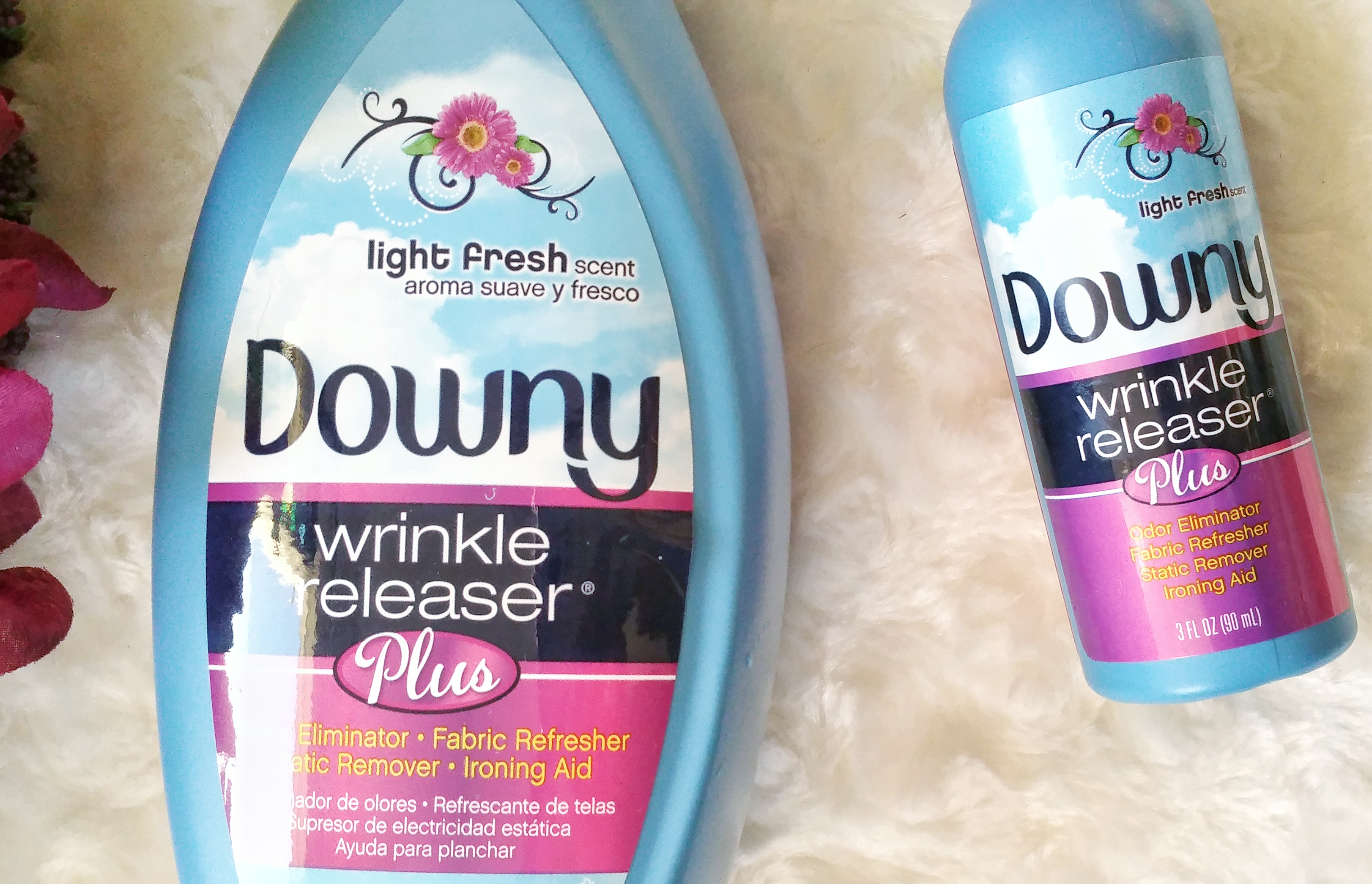 Downy Wrinkle Releaser Plus, downy, wrinkle free, wrinkles, clothes, mommy, helper, working mom, busy mom, house chores, household, review, wrinkle releaser, odor eliminator, fabric refresher, static remover, ironing aid, fresh scent, product review, home management,