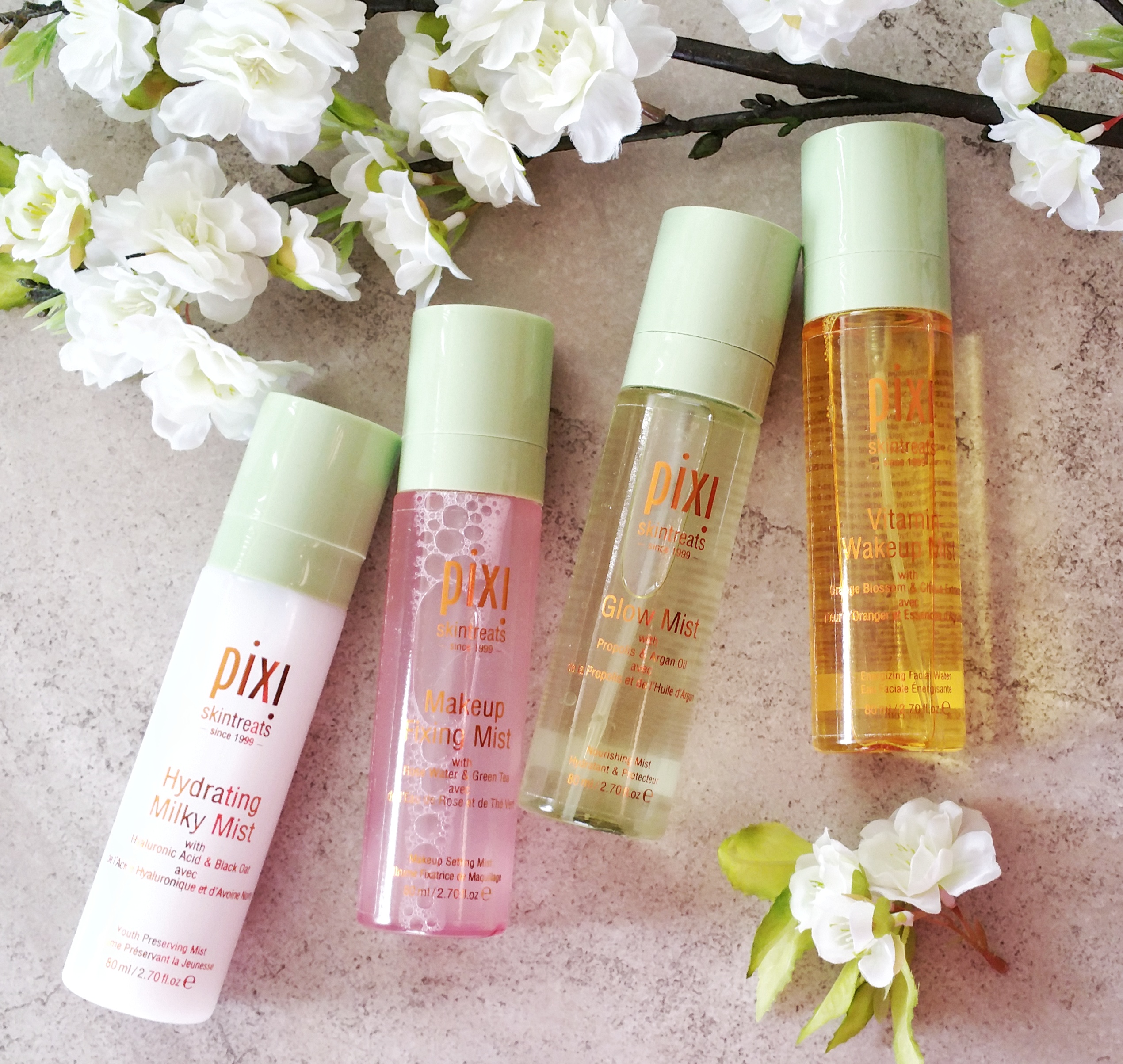 pixi, pixi beauty, pixi beauty mists, skin treats, beauty mists, setting spray, makeup, skin care, makeup setting spray, vitamin c spray, drugstore skin care, vitamin wakeup mist, hydrating milky mist, glow mist, makeup fixing mist, spray mist, makeup mist, skin care mist,