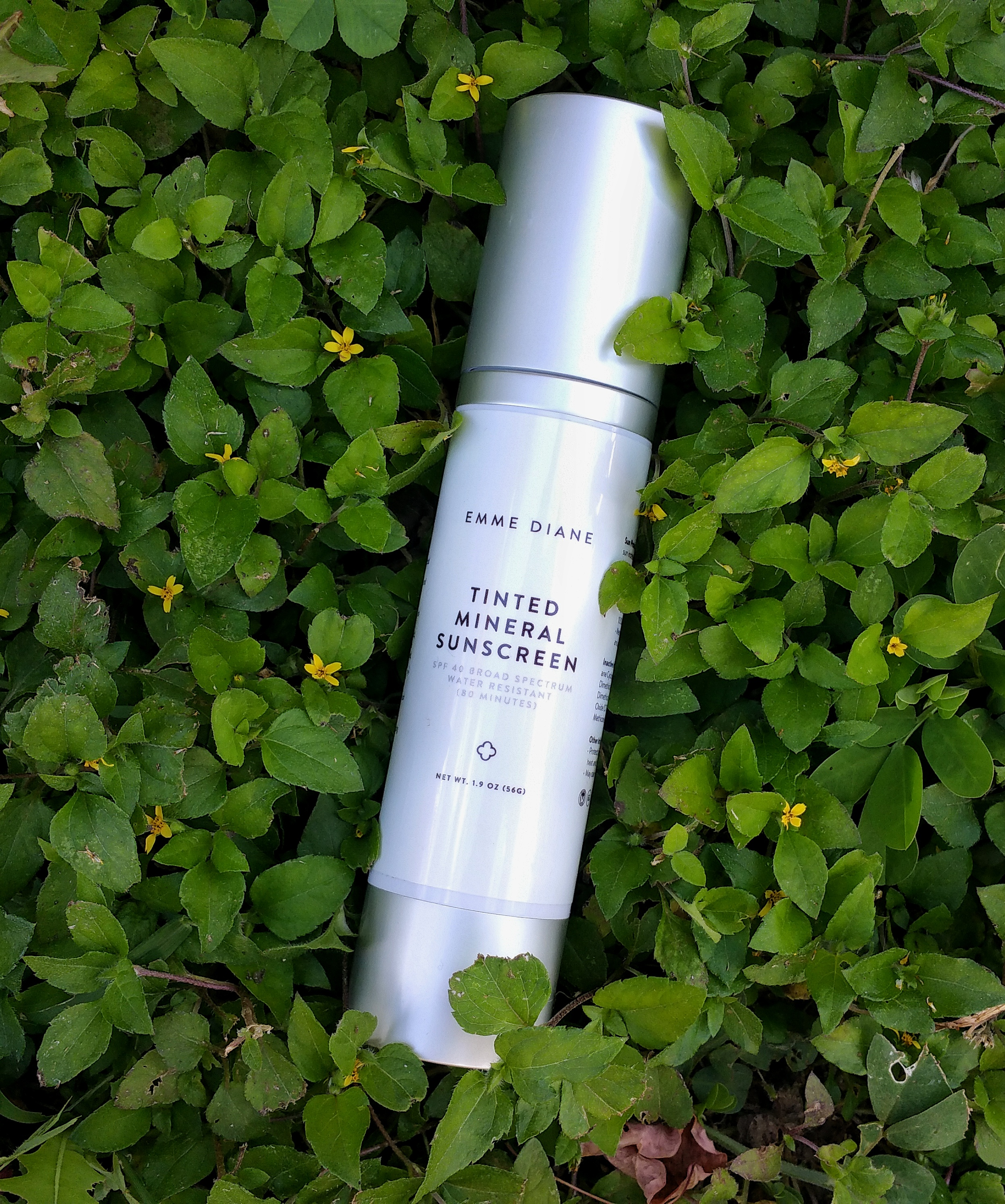 emme diane, tinted mineral spf, skin care, skincare, spf 40, tinted mineral spf 40, beauty, makeup, mattifying spf, sheer tint spf, tinted moisturizer, physical sunscreen, water resistant sunscreen, good for the ocean, non-comedogenic, silky finish, susncreen, sweat resistant,