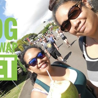 vlog, day in the life, maui, hawaii, maui swap meet, coconut, fresh coconut, how to eat a coconut, sisters, twins, family, family vlogs, lifestyle, lifestyle vlogger,